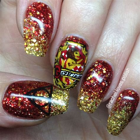 Gryffindor Nail harry potter nail magic at your finger tips