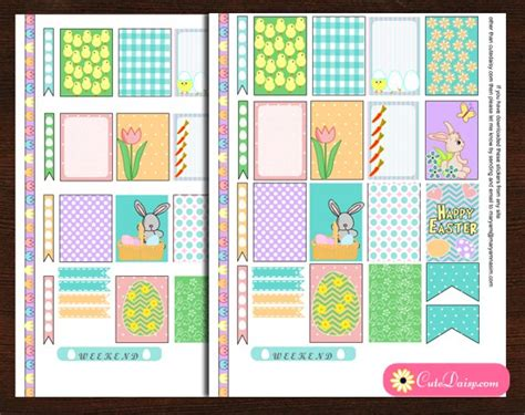 printable eclp stickers free printable easter stickers for happy planner and eclp