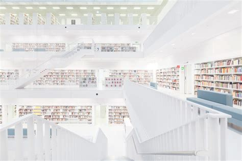 stuttgart library felix lochner captures city library stuttgart devoid of humans