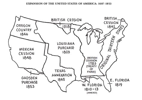 manifest destiny map map