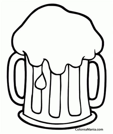 dibujos de bebidas para colorear colorear jarra de cerveza espumosa bebidas dibujo para