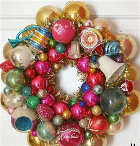 making a vintage christmas ornament holiday wreath pinup