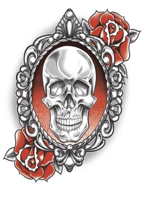 gothic rose skull tattoo gothic skull amp roses gothic