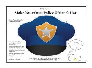 paper pattern of vigilance officer your child can make their own police officer s hat with