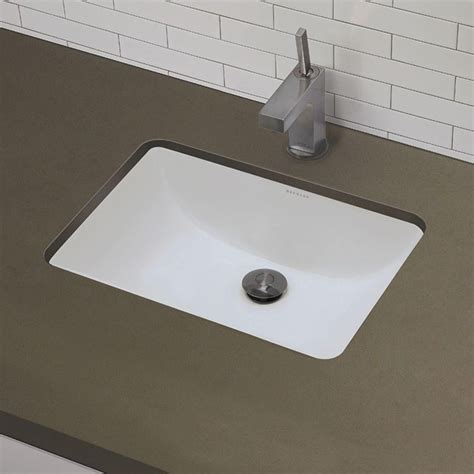 Undermount Bathroom Sink In White Decolav Classic 21 X 15 Rectangular Undermount Bathroom