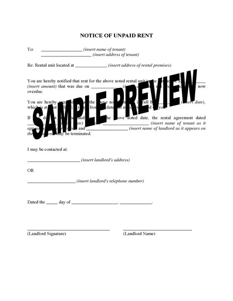 Montana Notice Of Unpaid Rent Legal Forms And Business Templates Megadox Com Montana Eviction Notice Template