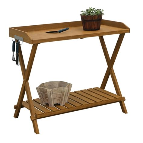 folding metal potting bench outdoor folding garden table potting bench with slatted