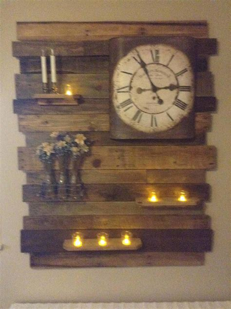 lovely pallet wood accent wall decor panel  pallets