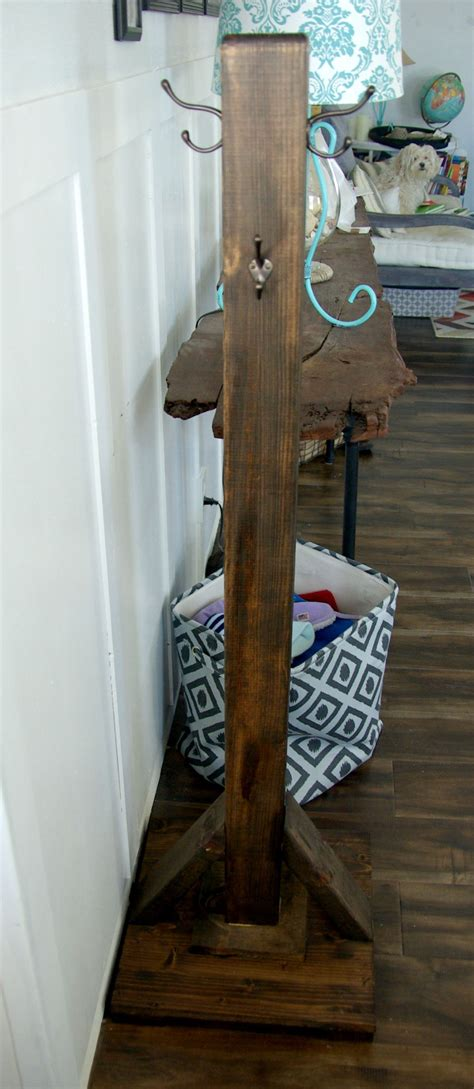 diy how to build wood diy wood coat rack