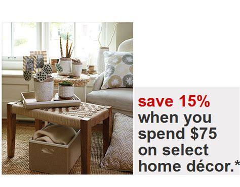 target coupons 15 percent home decor