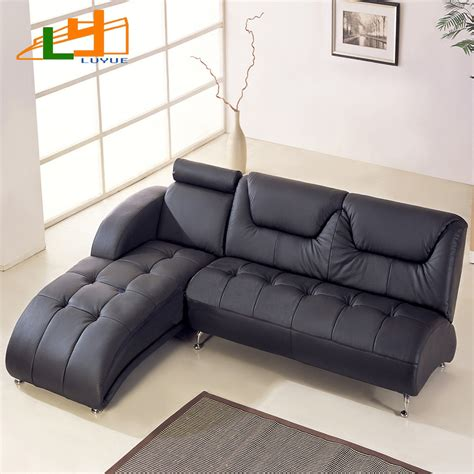 Small Corner Leather Sofa Small Apartment L Shaped Corner Sofa Leather Sofa Modern Foshan Furniture Ikea In Living