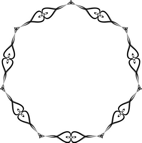 Wedding Border Hearts by Free Clipart Of A Black And White Wedding Border