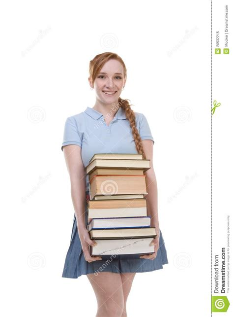 dreamstime high school girls high school schoolgirl student with stack books royalty