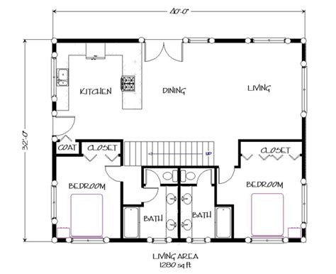 A Frame House Pictures Mesa Floorplan