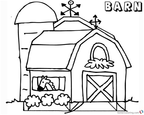 barn coloring pages barn coloring pages in the barn free printable