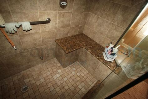 tiled shower bench granite and ceramic tile bench photo gallery and image