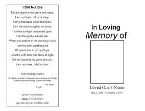 free funeral program template for microsoft word the funeral memorial program free funeral program