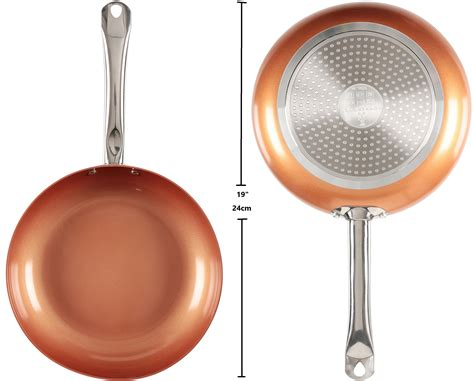 10 Ceramic Skillet With Lid by Copper Chef 10 Inch Frying Pan With Lid Skillet