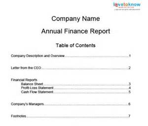 Quarterly Report Template Small Business by How To Write Annual Finance Reports