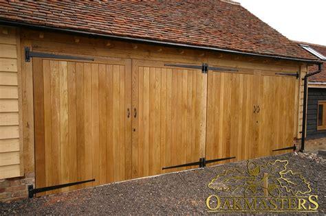 Garage Door Opens Partially by 4 Bay Partially Open Oak Garage With Four Doors Oakmasters