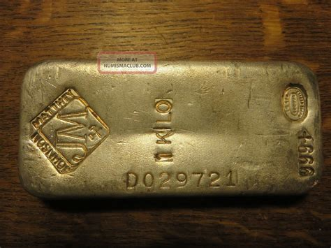 1 Kilo Silver Bar Canada - 1 kilo 32 15 oz johnson matthey silver bar vintage