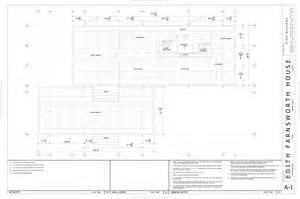 Farnsworth House Floor Plan Dimensions Autocad By Mathews At Coroflot