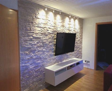Wohnzimmer Ideen Wandgestaltung Stein Rheumri