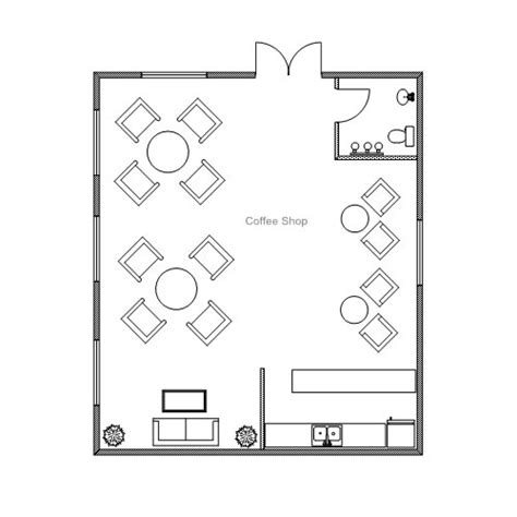 small shop floor plans coffee shop floor plan layout interior design ideas