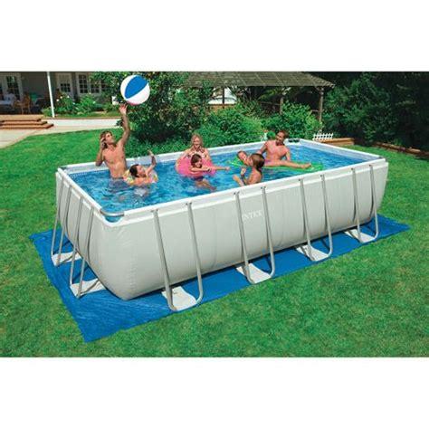 Backyard Pools Walmart Costco Swimming Pool Intex Rectangular Swimming Pool 18 X 9 X 52 Quot Walmart Home