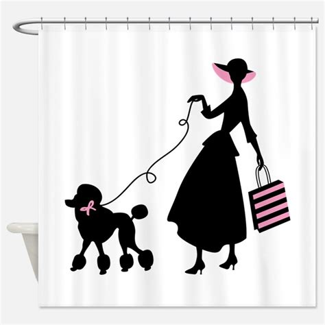poodle shower curtain french poodle shower curtains french poodle fabric