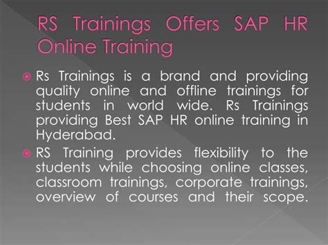 Sap Courses For Mba Hr In Hyderabad by Ppt Sap Hr In Hyderabad Sap Hr Course