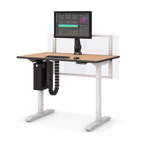 Computer Desk Height Adjustable Height Adjustable Computer Desk With Partition Afcindustries