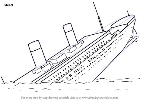 boat cartoon step by step learn how to draw titanic sinking boats and ships step