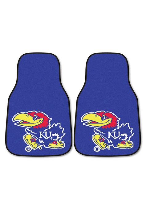 Karpet Pc kansas jayhawks 2 pc carpet car mat 1650376