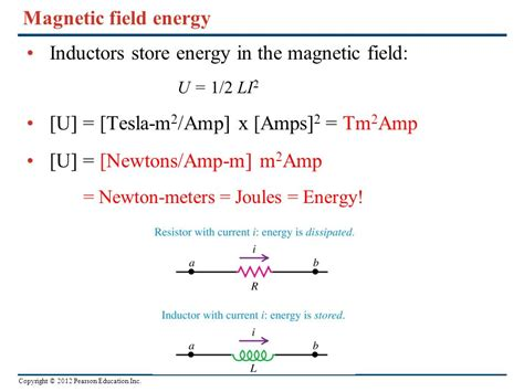 energy stored in inductor magnetic field chapter 30 inductance ppt