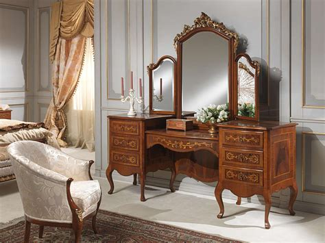 Bookshelf Headboard King Classic Louvre Bedroom Dressing Table With Mirror