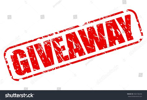 giveaway red st text on white stock vector 360158246 shutterstock - Giveaway Text