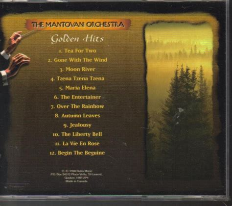 mantovani golden hits the mantovani orchestra the golden hits cd