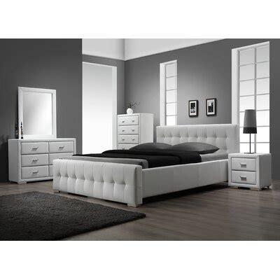 white leather bedroom furniture wayfair