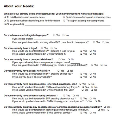needs assessment survey template needs assessment 8 free for pdf word