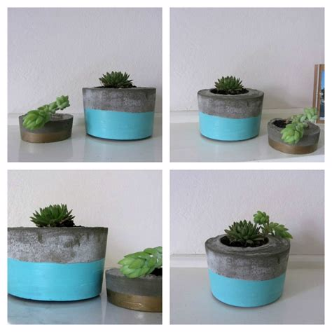 diy planters diy concrete planter l style curator shows you how