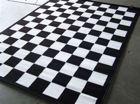 and white checkered rug checkered black and white area rug 7 x 10 nwt home interior ideas cas white