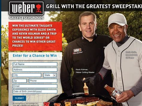 Weber Grill Sweepstakes - weber grill with the greatest sweepstakes