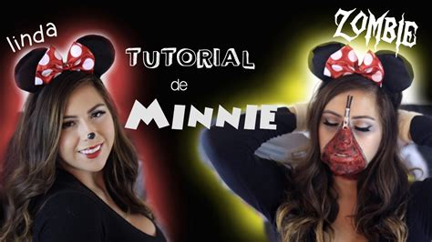 tutorial de zombie tutorial de halloween minnie linda y minnie zombie