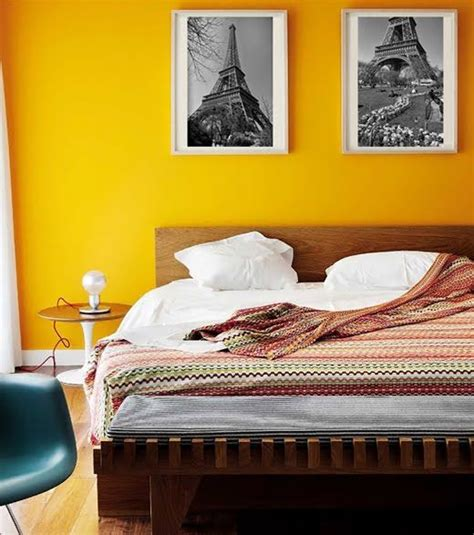 yellow accent wall bedroom pared amarilla deco bedrooms room and