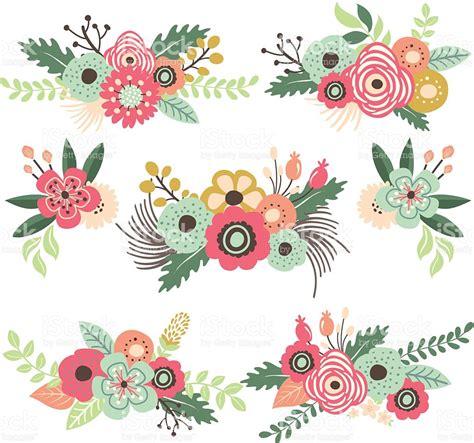 imagenes de flores retro conjunto de flores vintageilustraci 243 n arte vectorial de