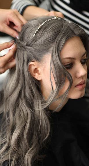 way hair colors grey hair color when the grey is just to far