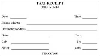 blank taxi receipt template blank taxi cab receipt templates pdf wikidownload