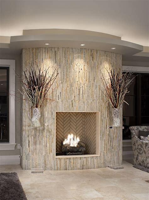 best 25 glass tile fireplace ideas on