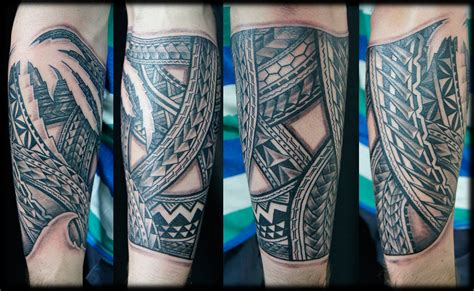 pacific tattoo designs custom pacific tatau polynesian forearm design